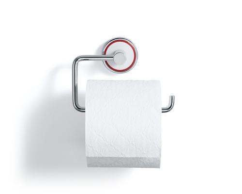 Rode Bath Toapappershållare i polerat stål och vit gjutmarmor. Elegant och stilfull dansk design
