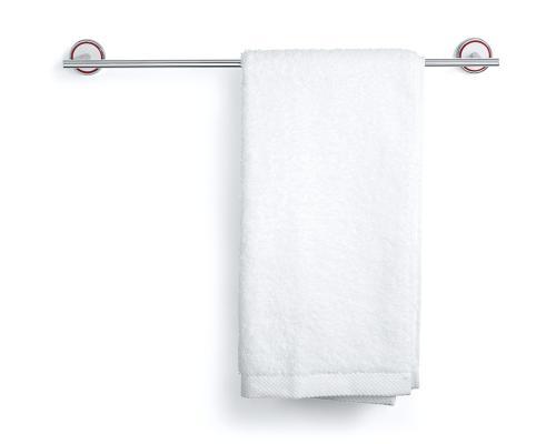 Rode Bath handdukshängare. Tillverkad av polerat stål och vit gjutmarmor