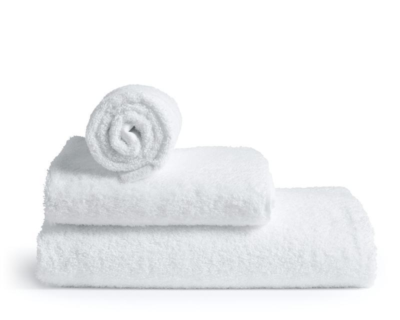 Vita badhanddukar av högsta kvalitet från Rpde Bath. Tillverkade av 100% bomullsfrotté