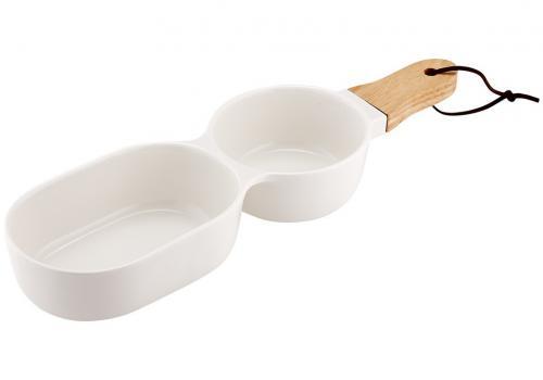 Classic 2-delad serveringsskål, vit
