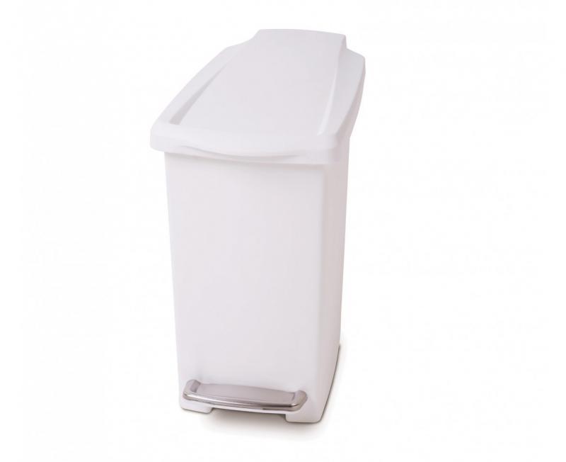 Rektangulär 10 liter vit plast