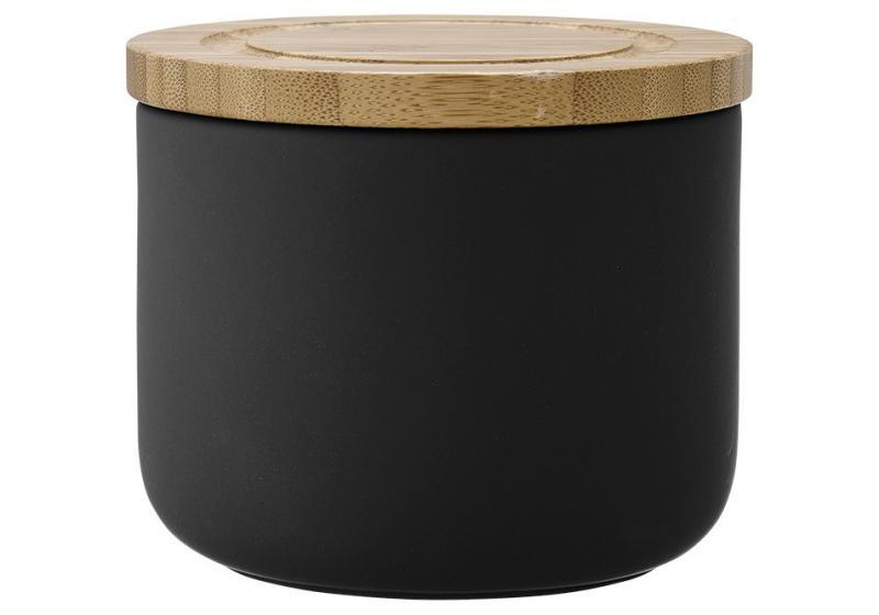 Förvaringsburk med lock 9 cm, Soft matt svart 9 cm