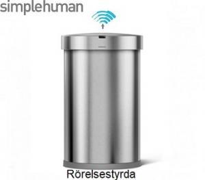 Simplehuman ST2009 automatisk soptunna i borstat stål. Snygg, smart smidig