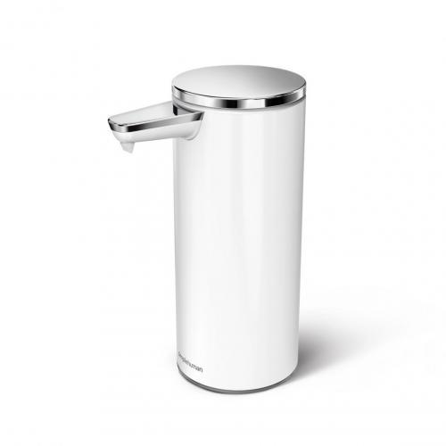 Simplehuman ST1045 automatisk tvålpump vit, rostfritt stål