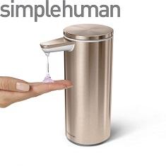 Simplehuman ST1046 Rose gold automatisk tvålpump i snygg design.