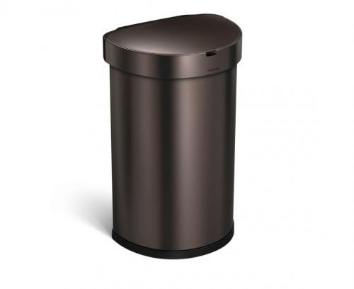 Semi-rund sensortunna 45 liter, dark bronze