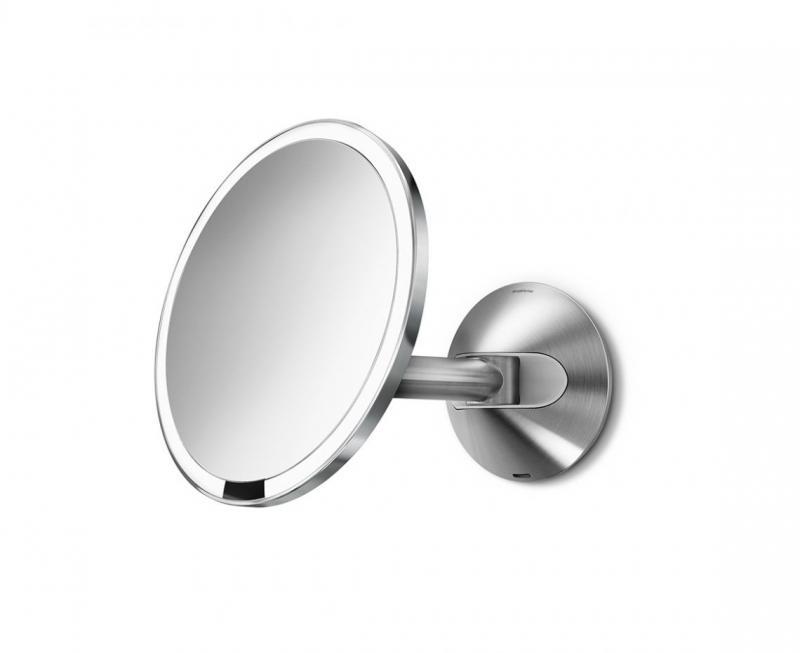 Simplehuman ST3002 sminkspegel med LED belysning, 5 x, vägg