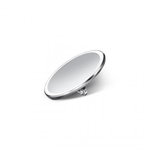Sensor mirror compact LED, 3x förstoring, borstat stål