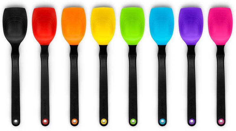 Dreamfarm supoon matlagningssked i silikon. Värme tålig, kan hängs på kastrullen. Tål maskindisk. Livsmedelsgodkänd silikon av högsta klass