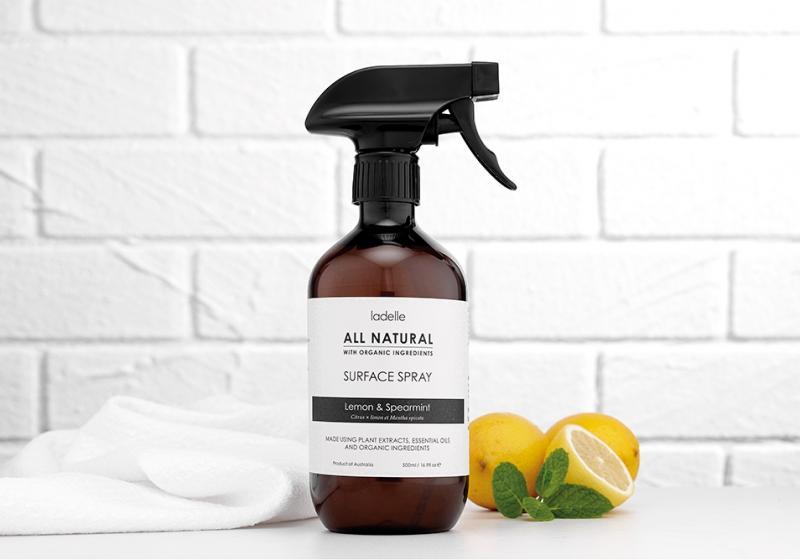 All Natural allrengöringsspray är tillverkad av enbart naturliga ingredienser
