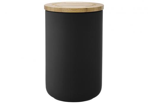 Förvaringsburk med lock 17 cm, Soft matt svart 17 cm
