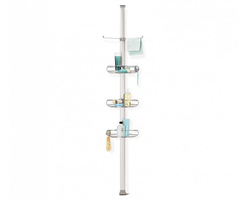 Simplehuman BT1062 duschhylla för hörn, monteras mellan golv och tak