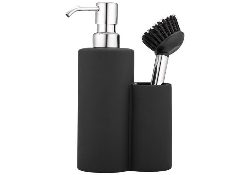 Diskmedelspump med diskborste, matt svart