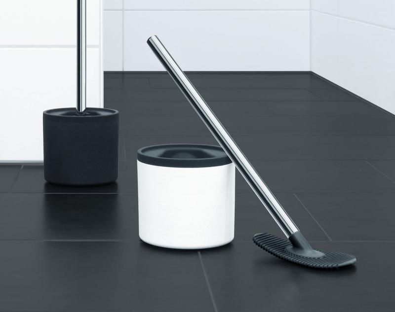 Rode Hygienic Daily toaborste. Silikonskrapa istället för borste rengör effektivt och hygiensikst din toastol