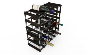 30 Flaskor 5 x 5 svart ask / Galvaniserat stål, omonterat