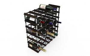 42 Flaskor 6 x 6 svart ask / Galvaniserat stål, omonterat