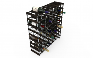 72 Flaskor 8 x 8 svart ask/ Galvaniserat stål, omonterat