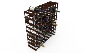 72 Flaskor 8 x 8 mörkt trä/ Galvaniserat stål, omonterat