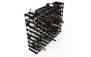 90 Flaskor 10 x 8 svart ask / Galvaniserat stål, omonterat