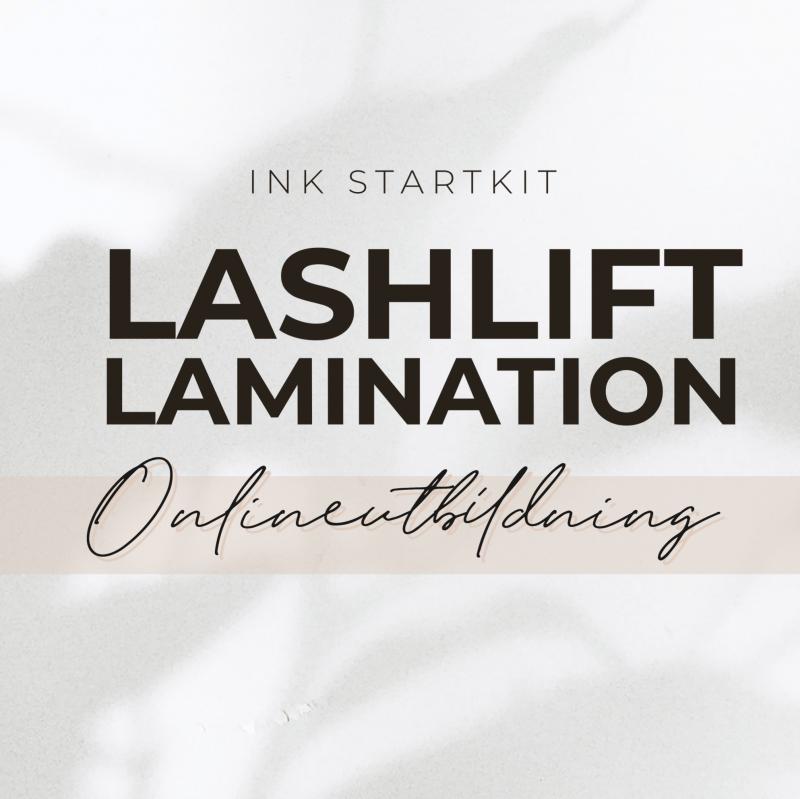 Lashlift lamination Onlineutbildning  -ink startkit