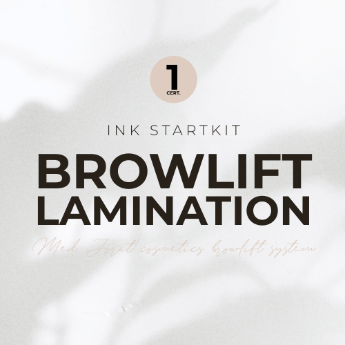 Browlift/Brow lamination 1 certifikat med Jorat Cosmetics browlift system