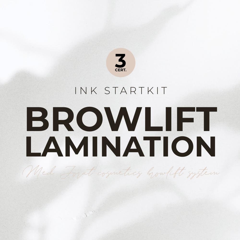 Browlift/Brow lamination 3 certifikat, med Jorat Cosmetics browlift System