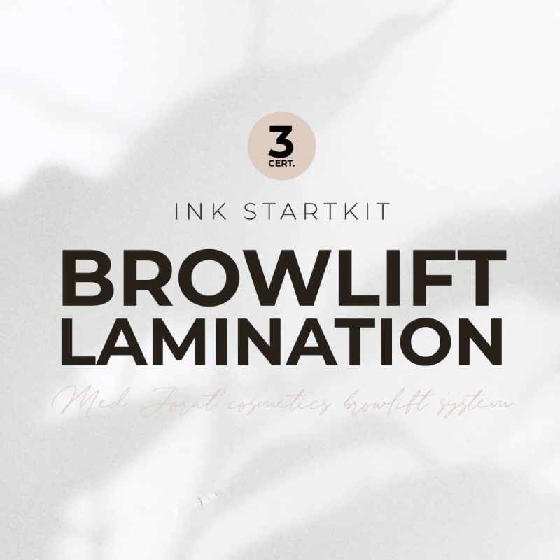 Browlift/Brow lamination 3 certifikat, med Jorat Cosmetics browlift System