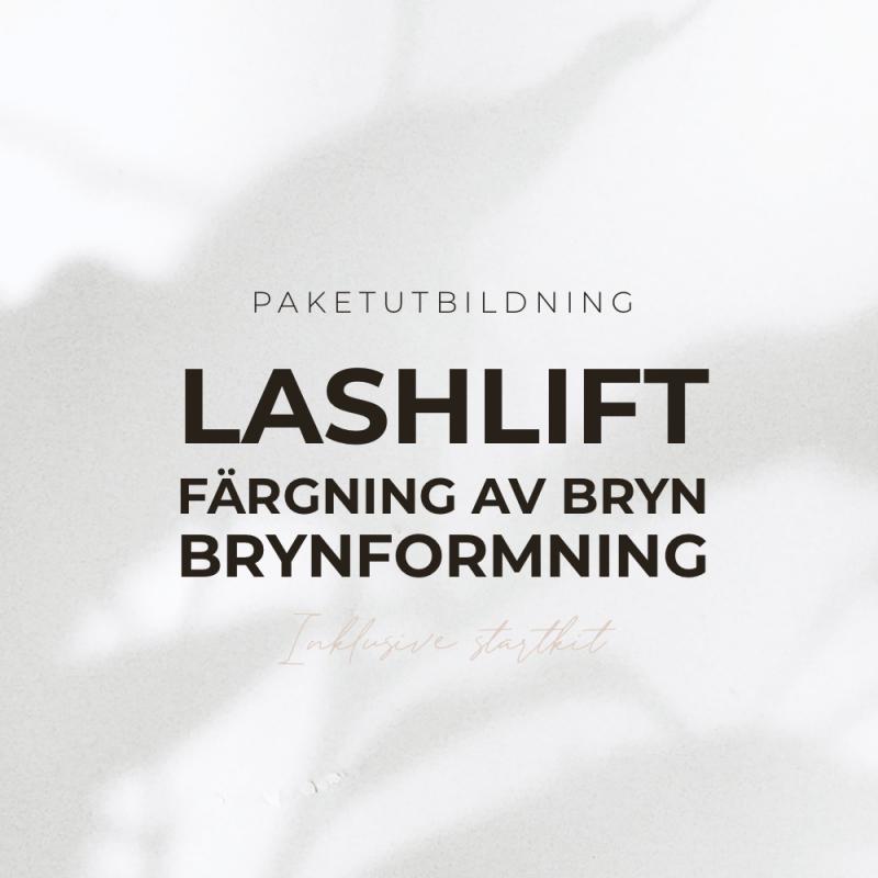 Paketutbildning - Lashlift , färgning av fransar & brynformning