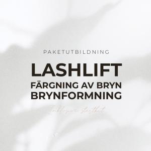 Lashlift + färg + & brynformning Utbildning - Paketutbildning - Inkl Startkit