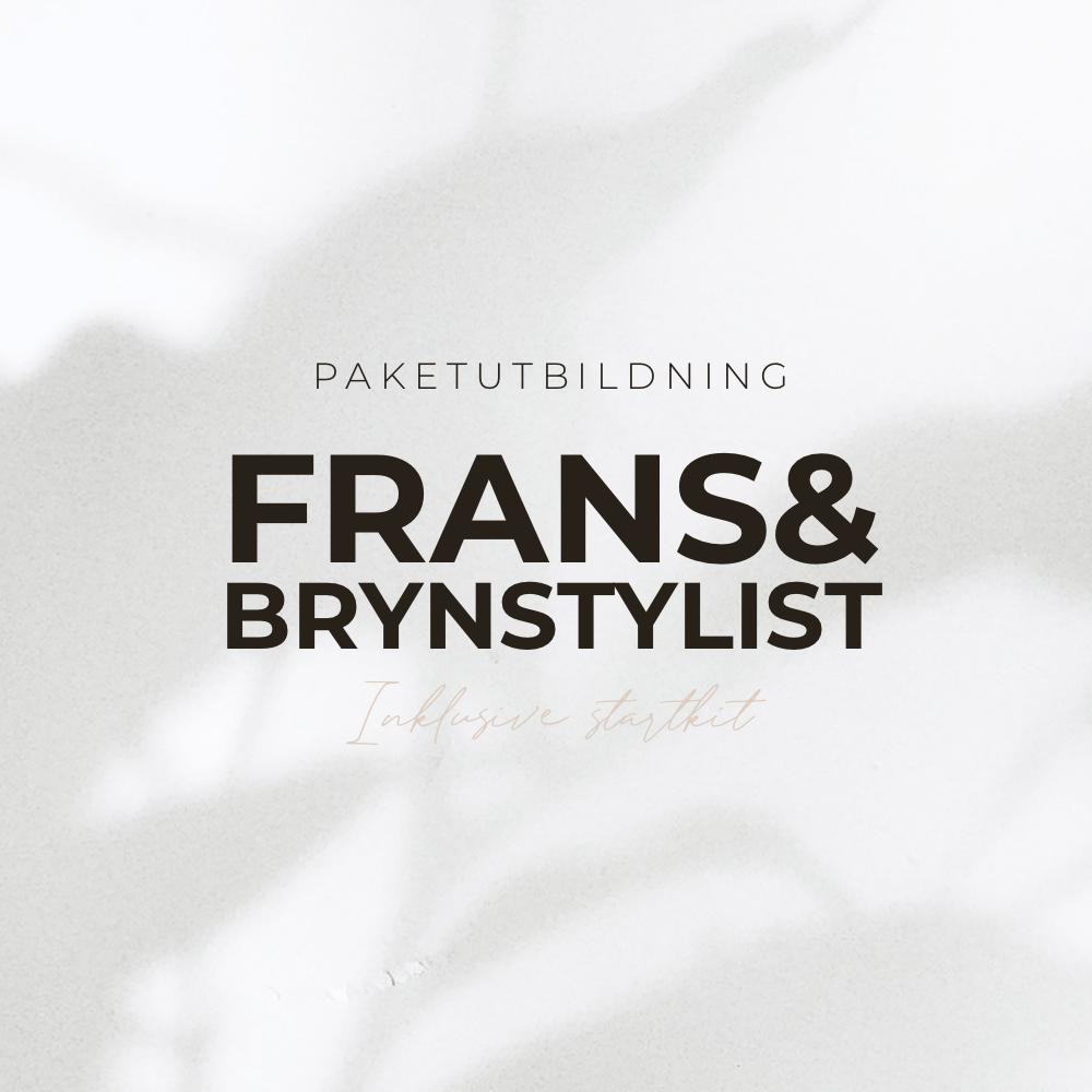 Frans & Brynstylist Utbildning - 6 Certifikat - Inkl Starktit - Paketutbildning