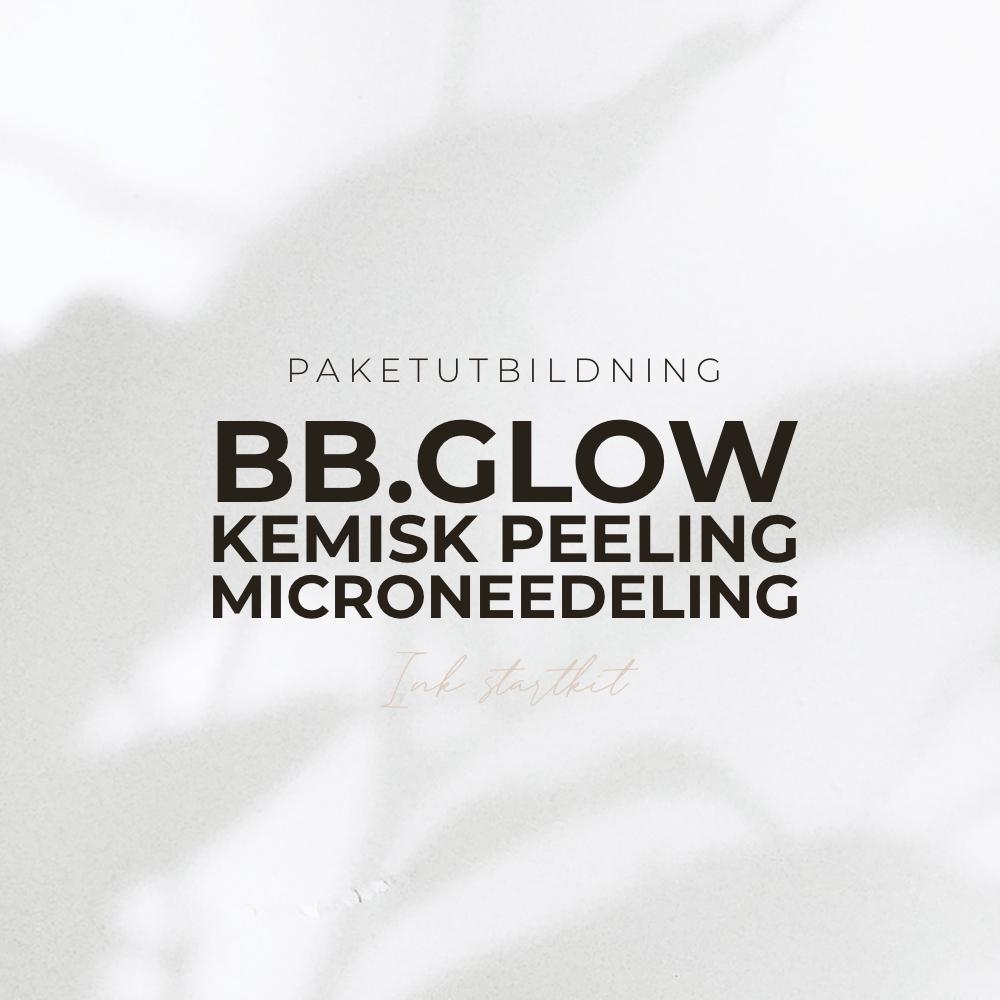 BB Glow, Kemisk peeling och Microneedling Utbildning - Inkl Startkit - Paketutbildning