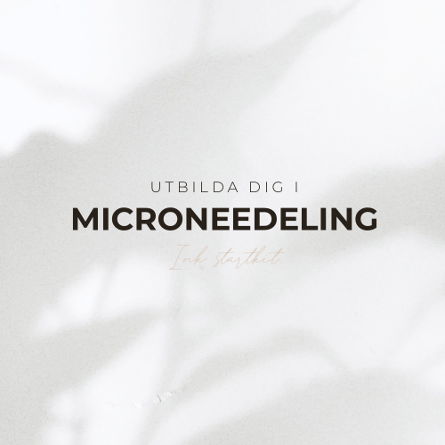 Microneedling Utbildning - Inkl Startkit