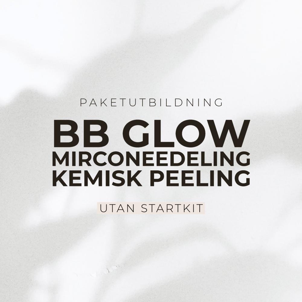Paketutbildning - Bb glow, microneedeling & kemisk peeling - Utan startkit