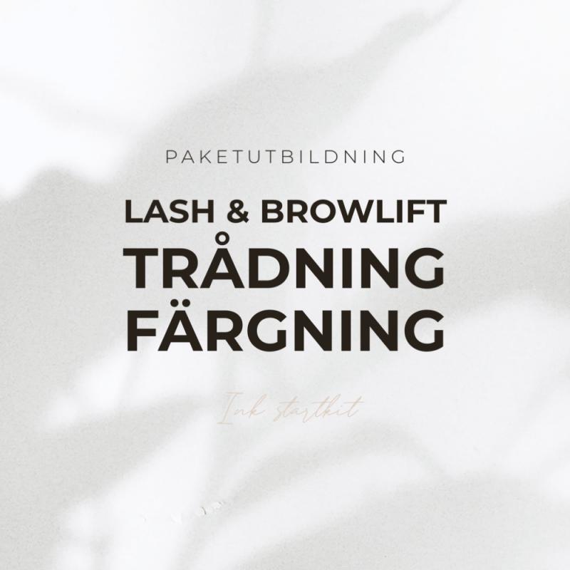 Paketutbildning - Lash & browlift, trådning & färgning