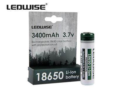 Ledwise 18650 Batteri 3400Mah