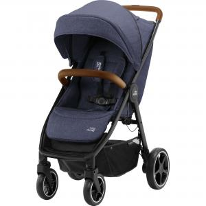 Britax B-Agile Navy Ink Brown Handle