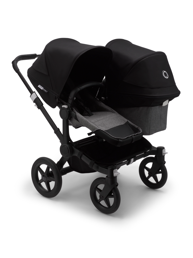 Bugaboo Donkey Duo 3 Black Bas Grey Melange Black