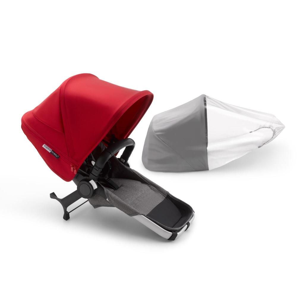 Bugaboo Donkey 3 komplett duo extension set Alu Grey Melange Red