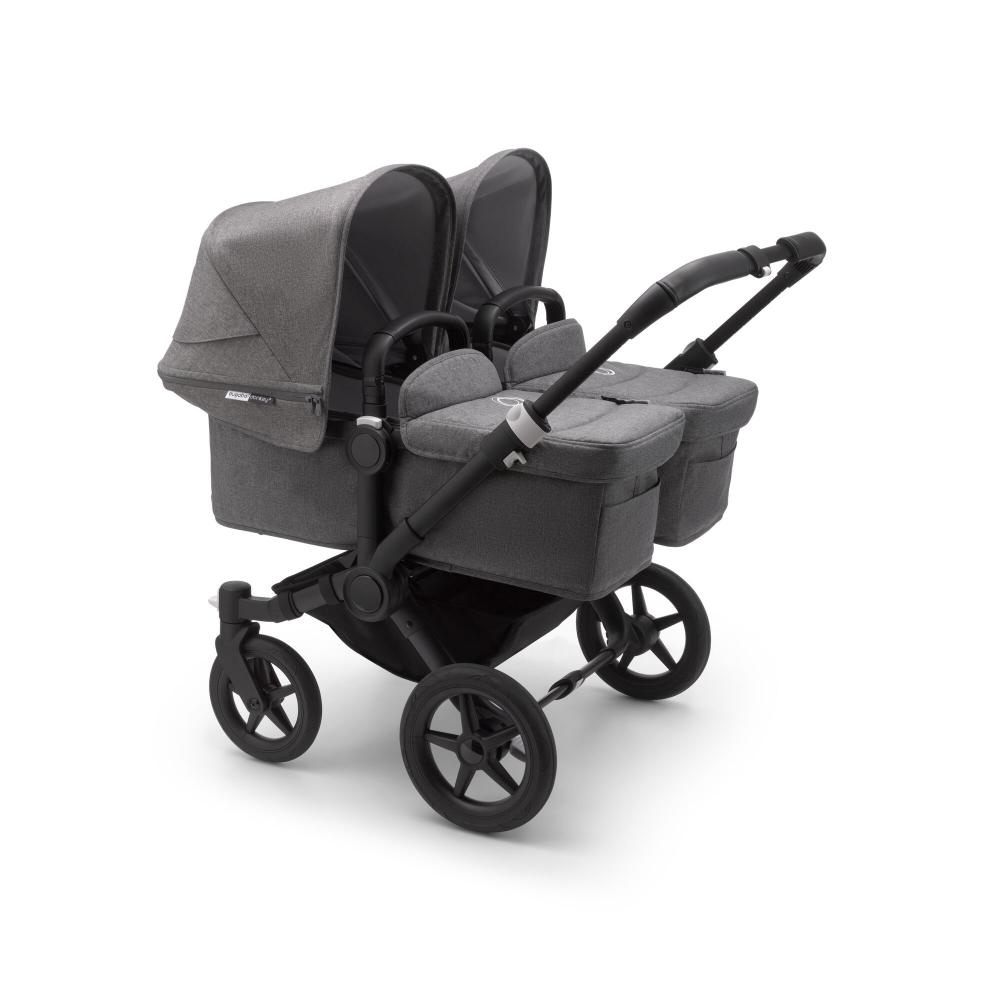 Bugaboo Donkey 3 Twin Black Grey Melange