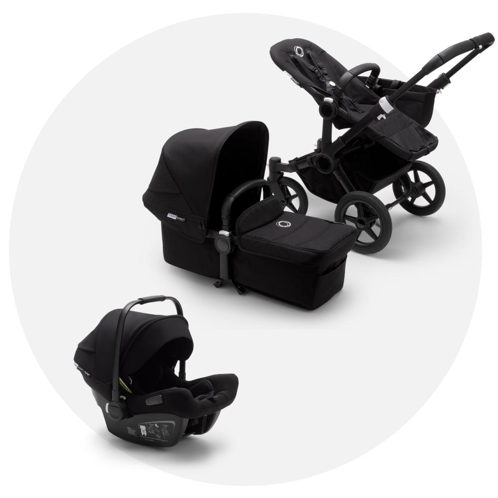 Bugaboo Donkey 3 All Black + Bugaboo Turtle Air Black