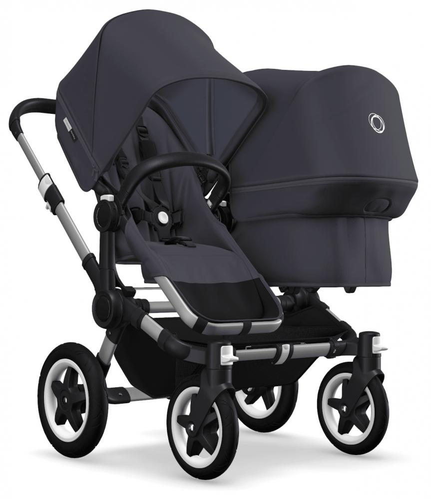 Bugaboo Donkey 2 Duo Alu Bas Steel Blue Style Set Steel Blue Suffletter