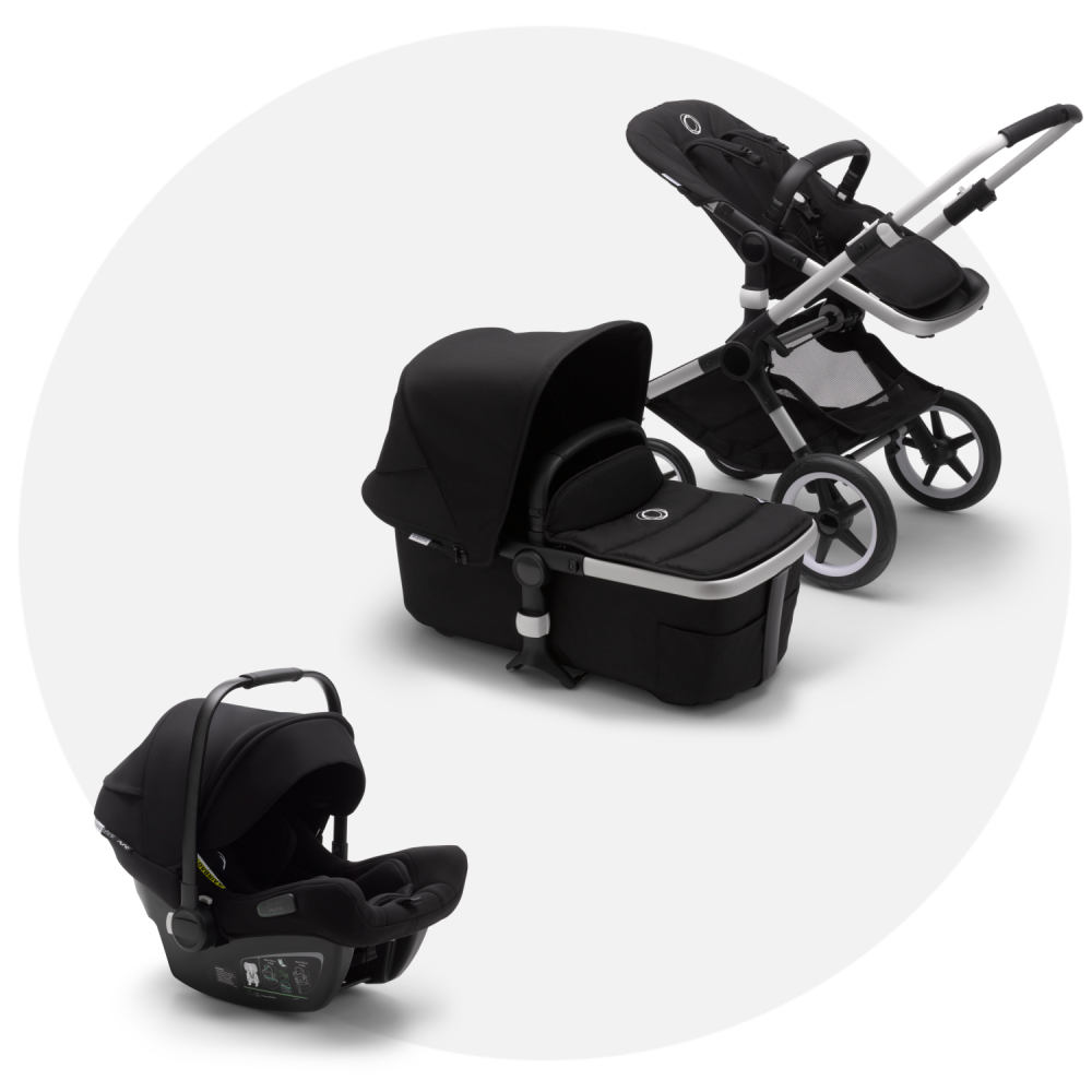 Bugaboo Fox 2 Black + Bugaboo Turtle Air Black