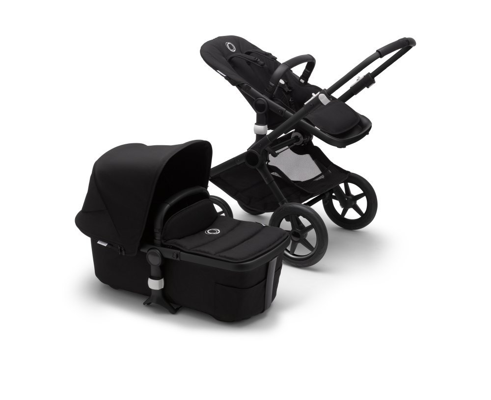 Bugaboo Fox 2 Black + Turtle Air Black + Wingbase