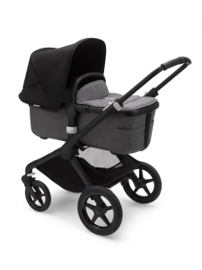 Bugaboo Fox 2 Black Bas Grey Melange Black Barnvagn