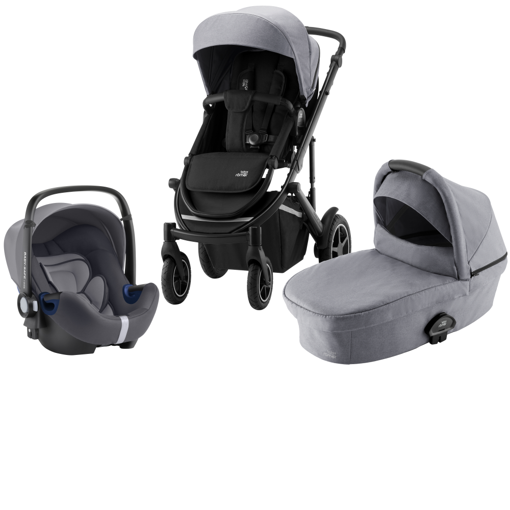 Britax Smile III Duovagn + Baby Safe² i-Size Frost Grey Black