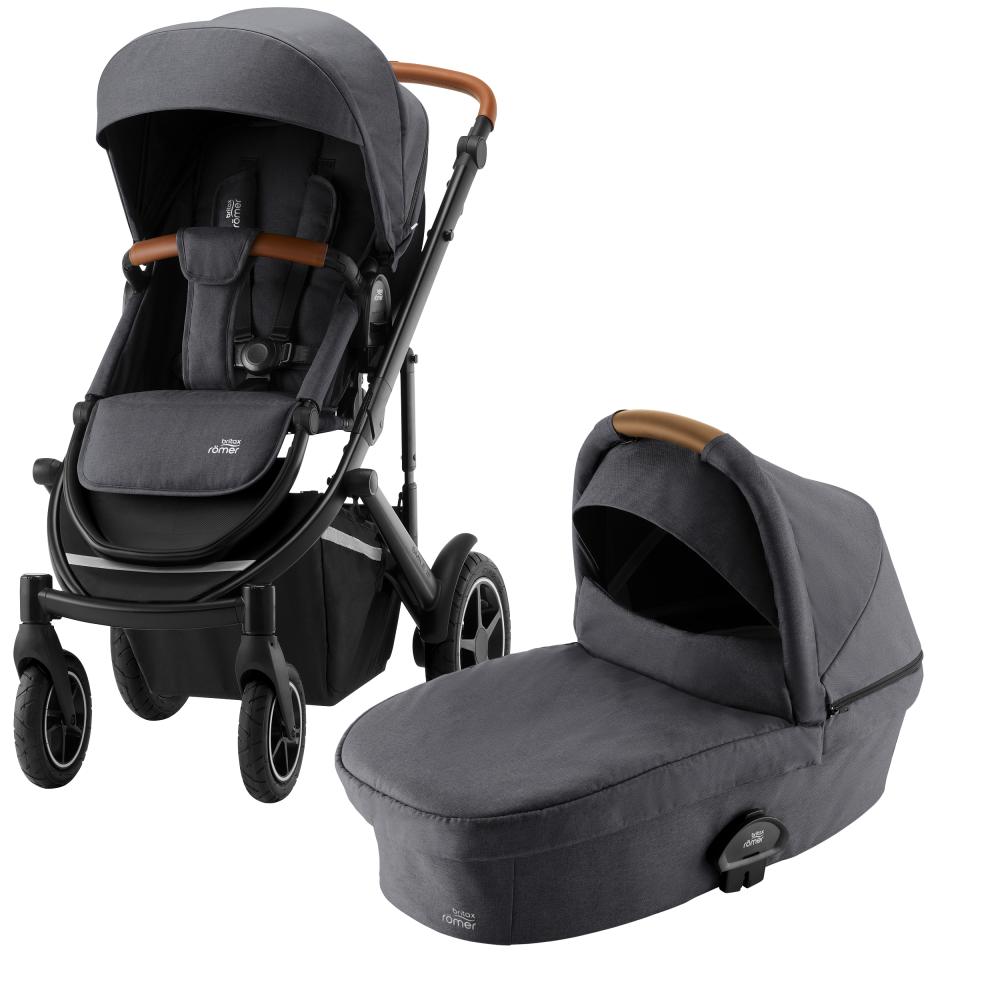 Britax Smile lll Duovagn + Baby-Safe² i-Size Midnight Grey