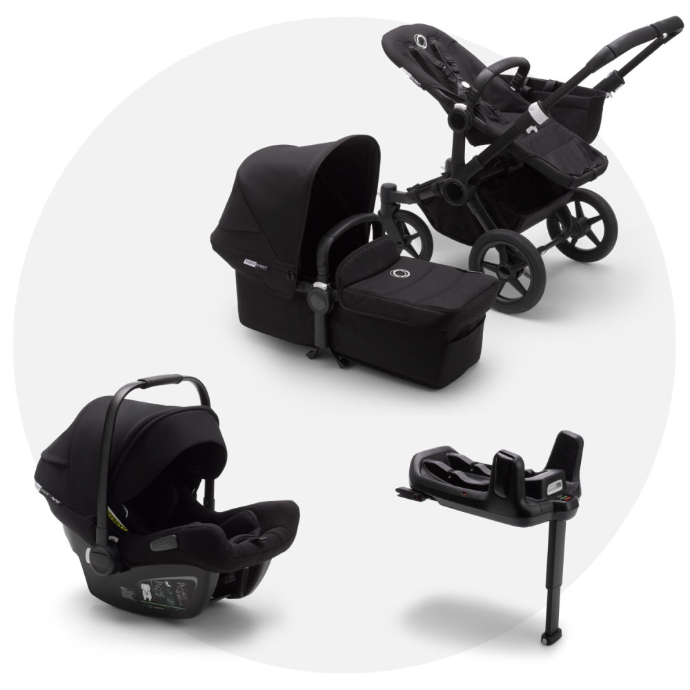 Bugaboo Donkey 3 Black Mono + Turtle Air Black + Wingbase