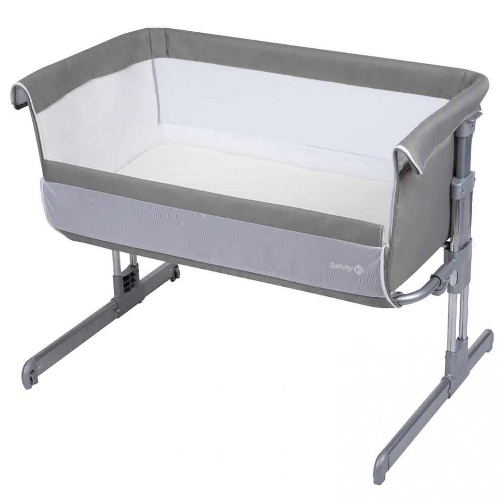 Calidoo 2 in 1 Bedside Crib Warm Gray