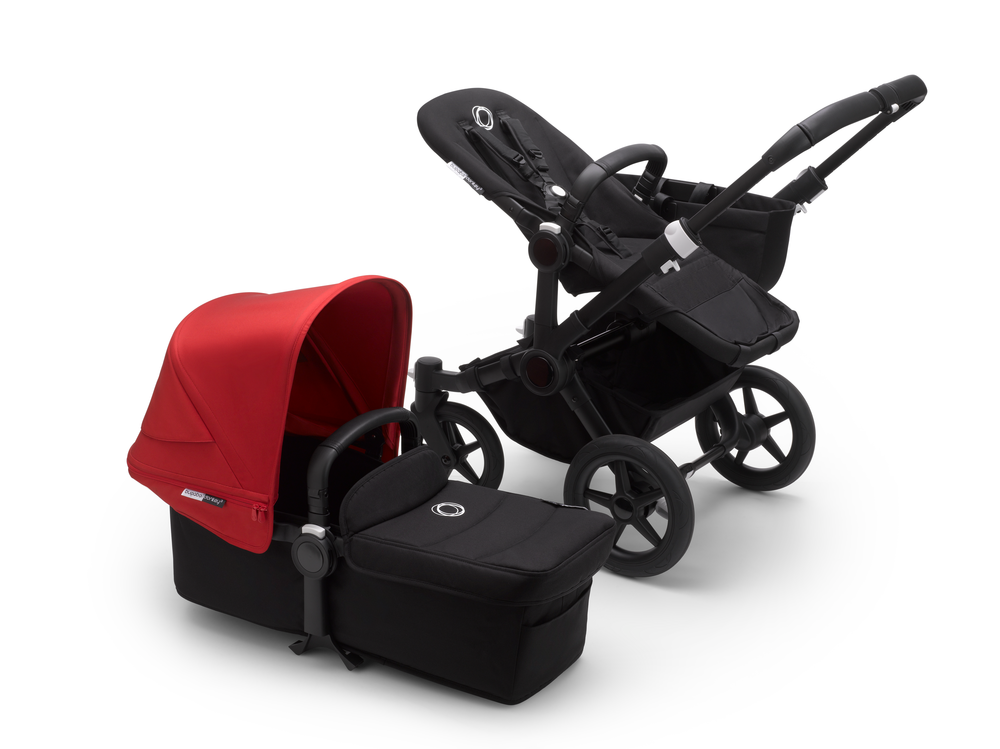 Bugaboo Donkey 3 Black Bas Red