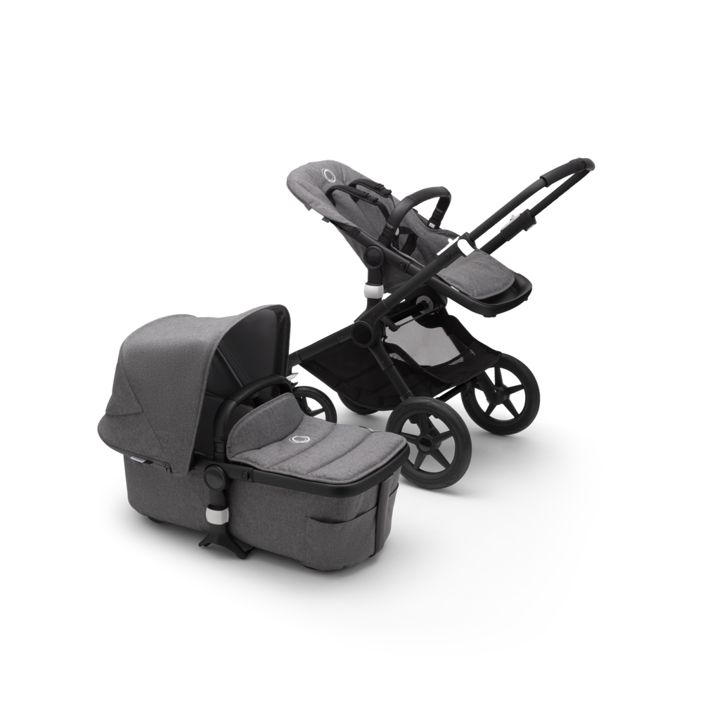 Bugaboo Fox 2 Grey Melange + Turtle Air Grey Melange